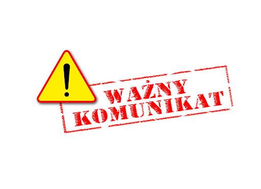 Komunikat - Koronawirus